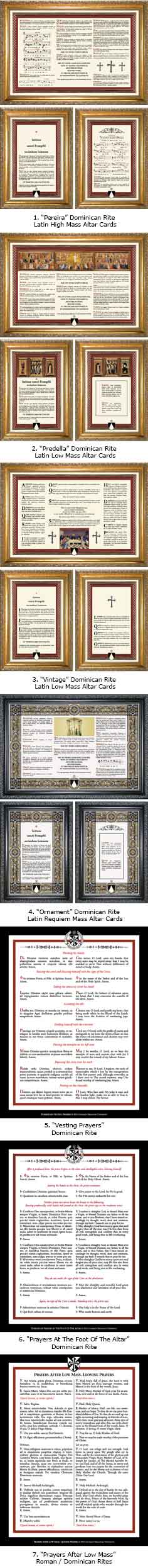 DOMINICAN RITE LATIN MASS CARDS